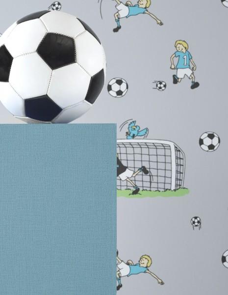 Vliestapete KInderzimmer Fußball Motiv in grau Kinder / Jungen ...