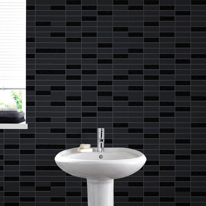 Muster Tapeten Mit Glitzer : Muster schwarz mit glitzer Rimini Kachel Optik 33-067 Tapeten