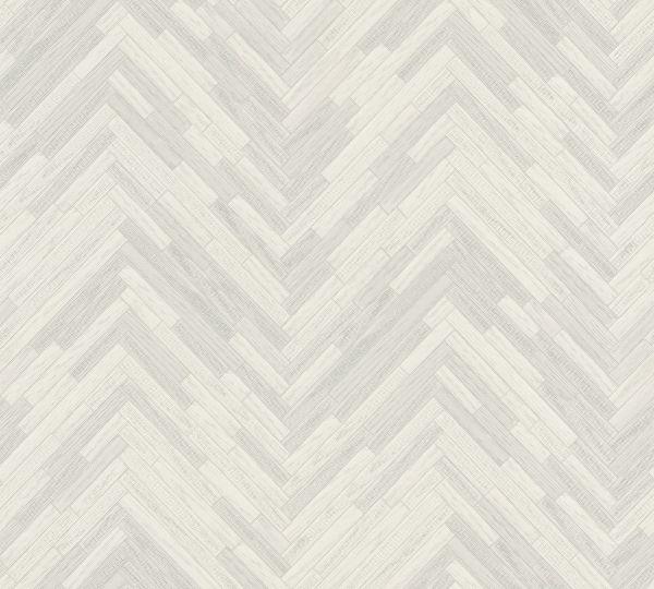 Vliestapete Holzoptik Fischgrätenmuster grau weiß Versace 4