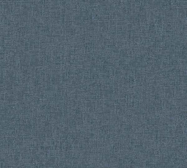 Vlies Tapete Uni Struktur Textil Optik blau