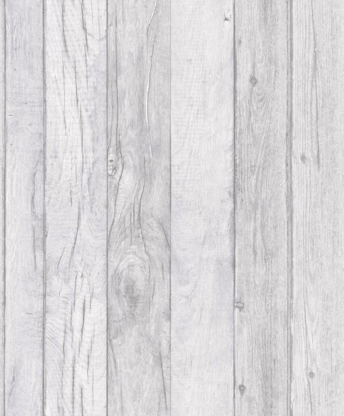 Vliestapete Antik Holz grau