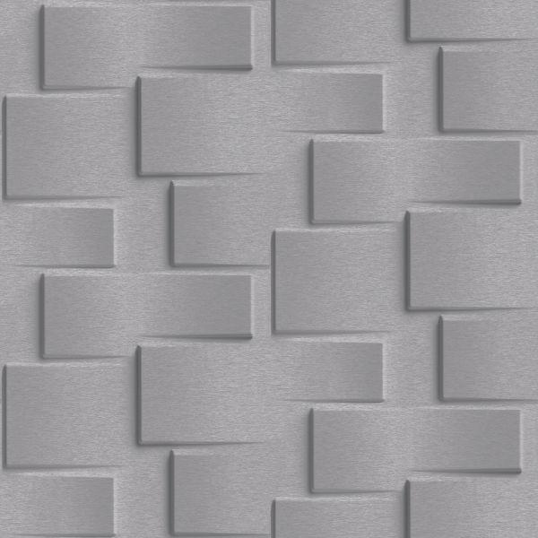 Vliestapete 3D Steinwand dunkel grau