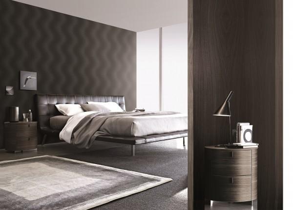 Luxus Design Vlies Tapete Wellen Struktur schwarz blau metallic glanz effekt
