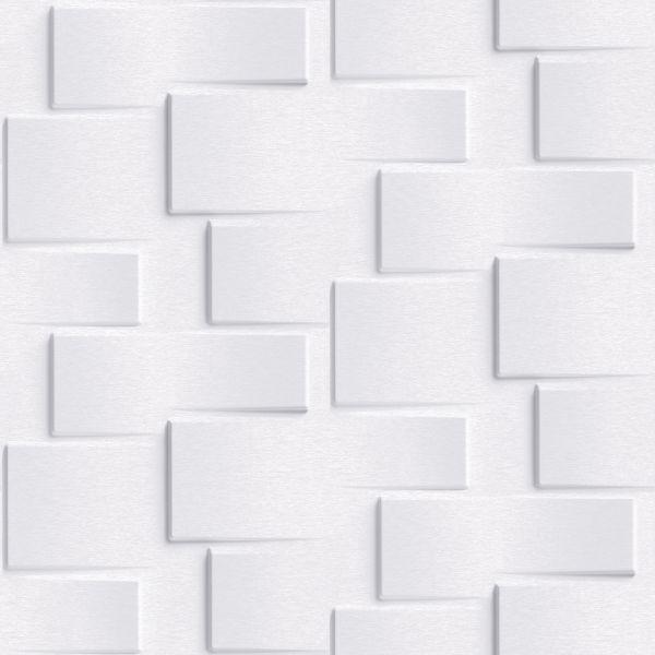 Vliestapete 3D Steinwand hell grau