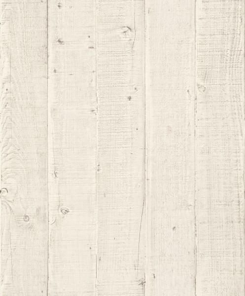 Vliestapete Antik Holz Optik creme beige rustikal verwittert 1203