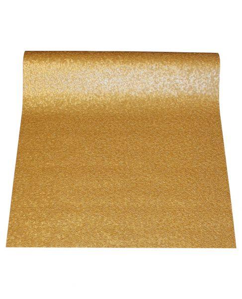 Gold metallic Uni Struktur Vliestapete Steinwand