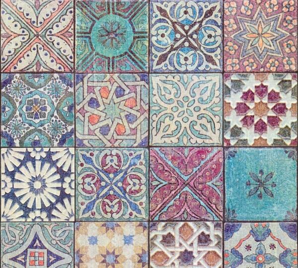 Vliestapete Fliesenoptik Mosaik bunt Marie