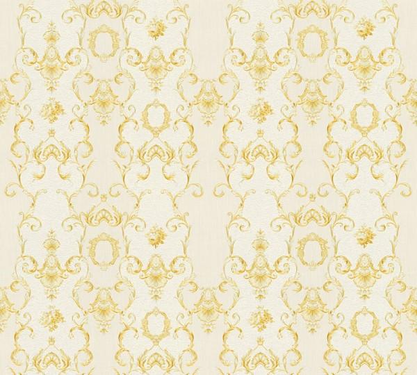 Vliestapete Ranken Barock creme gold glanz Chateau 5