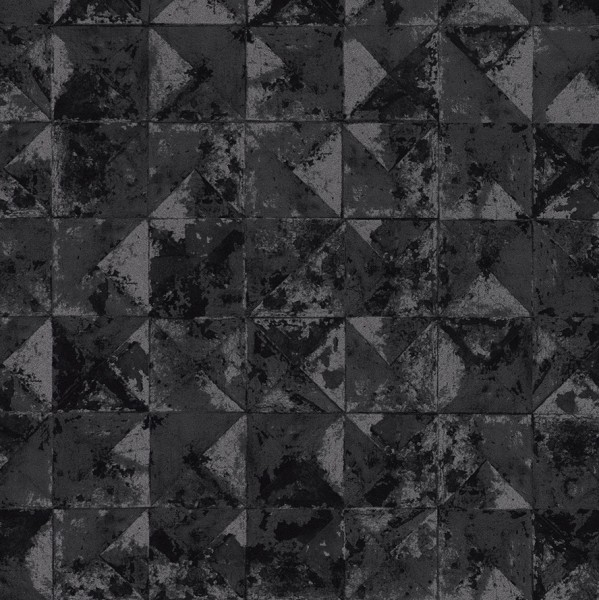 42501 10 vliestapete beton mosaik kacheln anthrazit silber metallic joratrend tapetenshop. Black Bedroom Furniture Sets. Home Design Ideas