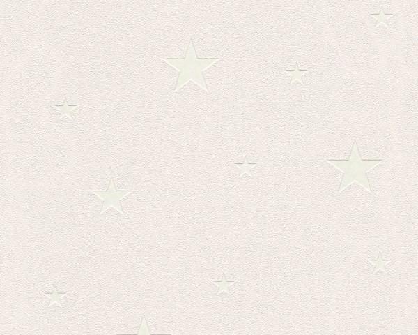 Vlies Leuchttapete / Deckentapete Sterne beige