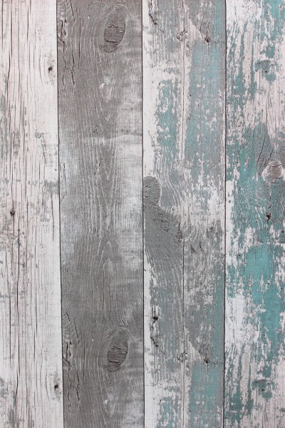 Vliestapete Antik Holz verwittert petrol grau