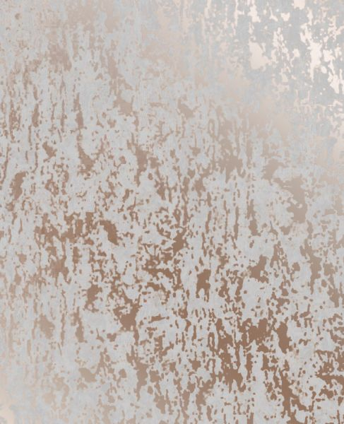 Strukturierte Beton Optik Tapete rose gold metallic grau