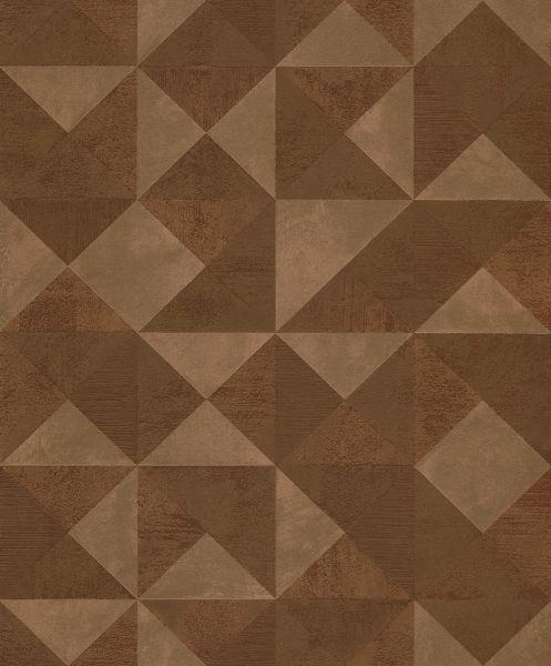 Geometrisches Dreieck Muster Vliestapete kupfer metallic