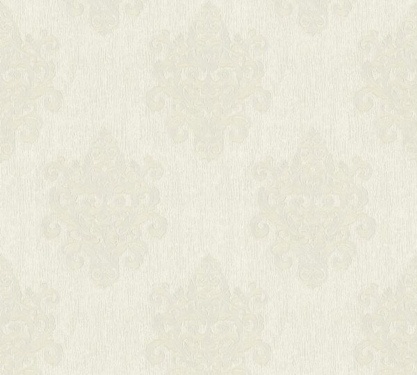 Vliestapete Barock Ornament creme weiß Großrolle