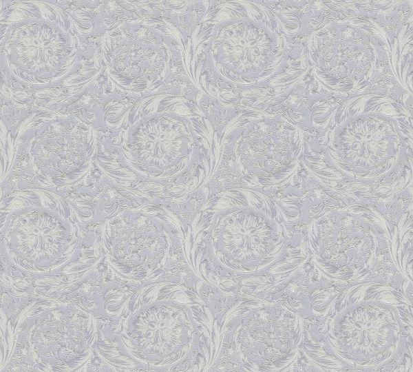 Versace 4 Vliestapete Kreis Ornament silber grau metallic