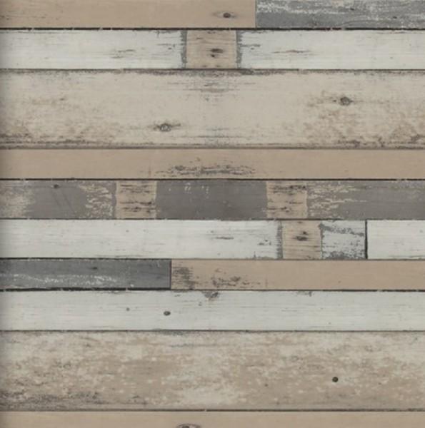 Vliestapete Antik Holz Bretter vertäfelung dunkel braun