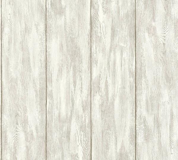 Landhaus Holzbalken beige grau Vliestapete Marie