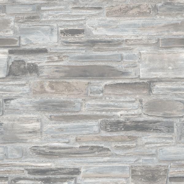 Vliestapete Steinwand blau grau Bruchstein