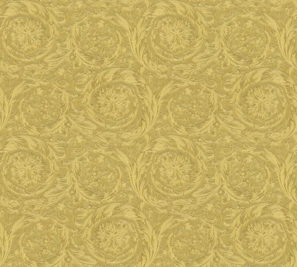 Versace 4 Vliestapete Kreis Ornament gold metallic