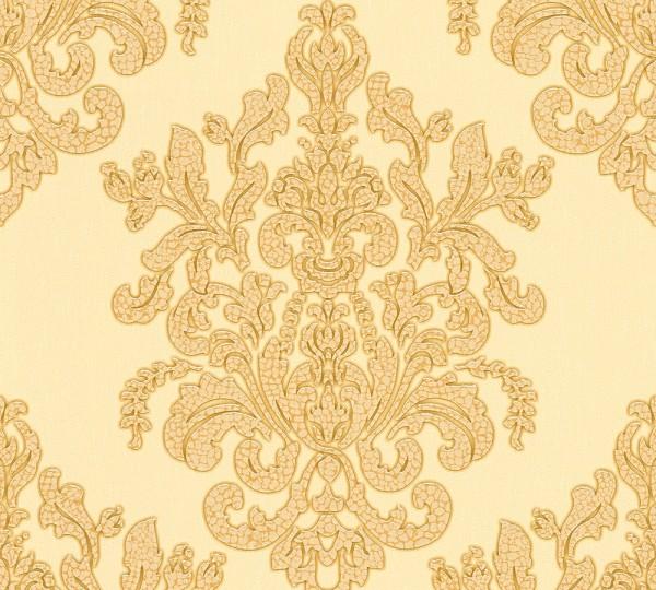 Vliestapete Barock beige gold