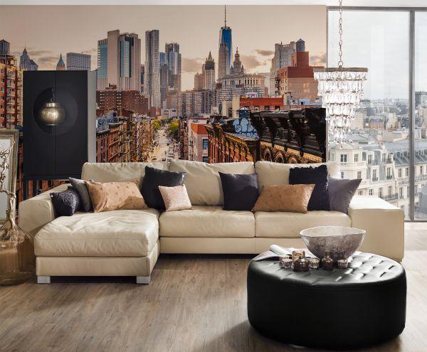 Fototapete Digitaldruck New York Skyline Vintage 255 x 350 cm