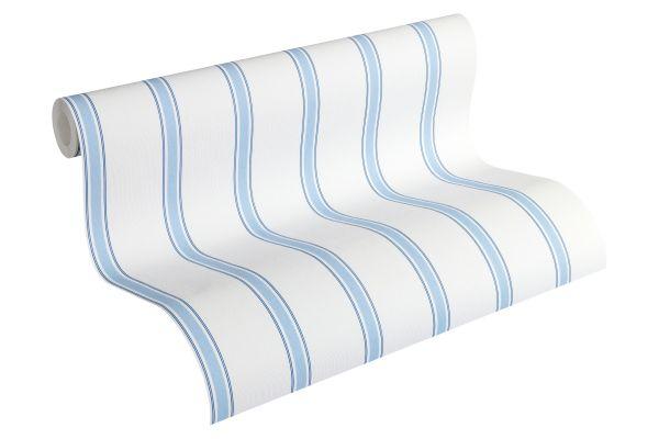 Esprit Kids Streifen Tapete hellblau weiß