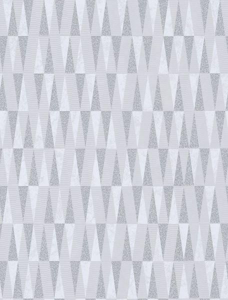 Vliestapete Carat stilvolle Dreiecke weiß silber gold glänzend