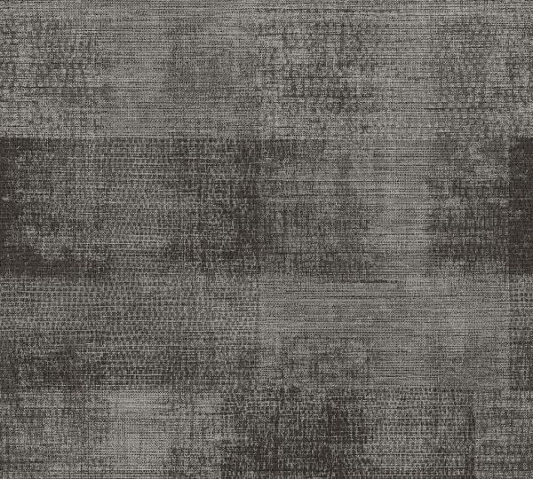 Vliestapete Patina Textil Optik schwarz grau