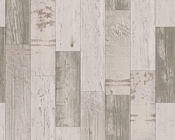 Papier Tapete Holz creme braun
