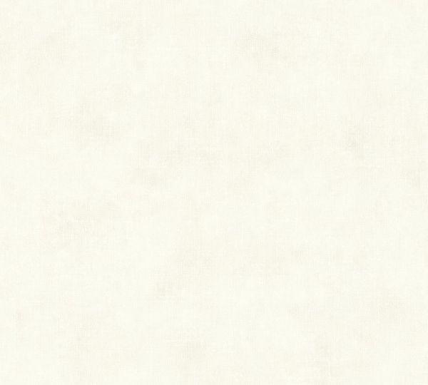 Vliestapete Uni Textil Optik creme weiß