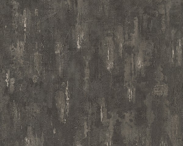 Vliestapete Beton Stein Optik anthrazit schwarz
