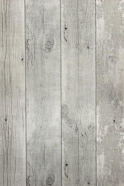 Vliestapete Antik Holz verwittert creme grau