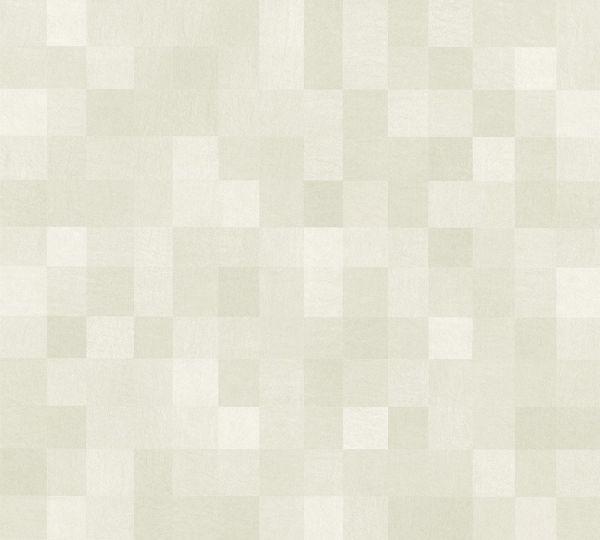 Vliestapete Kacheln Pixel Muster creme beige