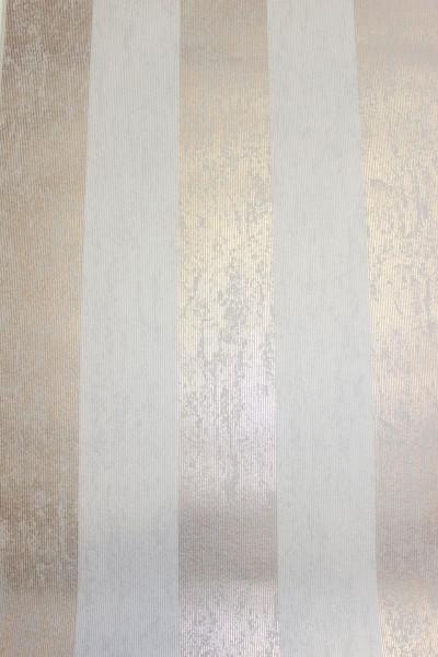 Vliestapete Streifen Struktur beige rose gold metallic
