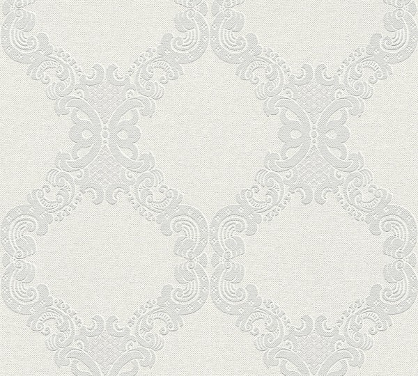 Vliestapete Barock Ornament creme grau Elegance