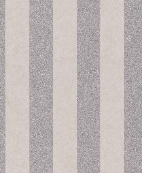 Vliestapete Carat Streifen beige silber grau glänzend