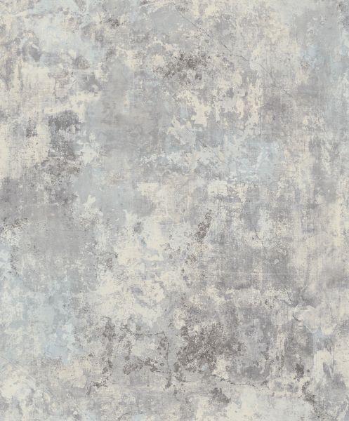 Vliestapete Shabby Beton Optik hell grau blau verwittert