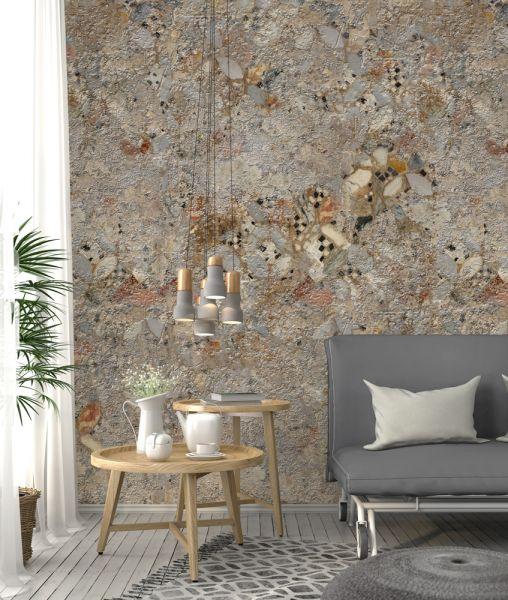 Vlies Fototapete used Beton Stein Mosaik 200x280cm