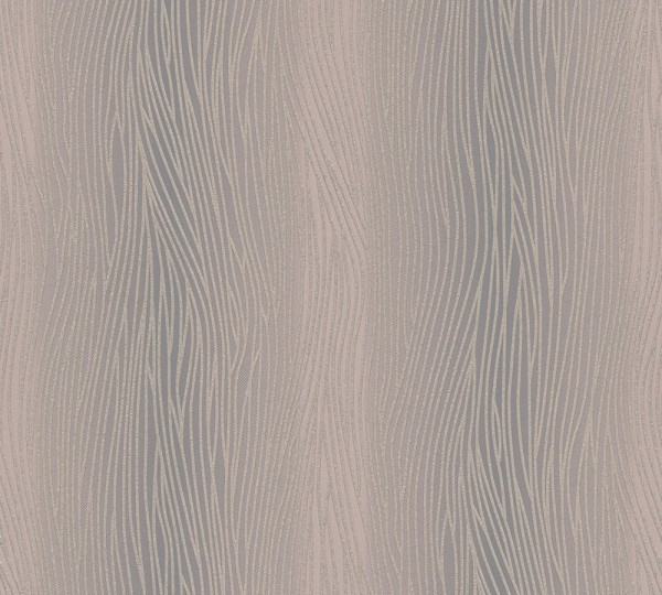 Uni Struktur Streifen Tapete braun grau