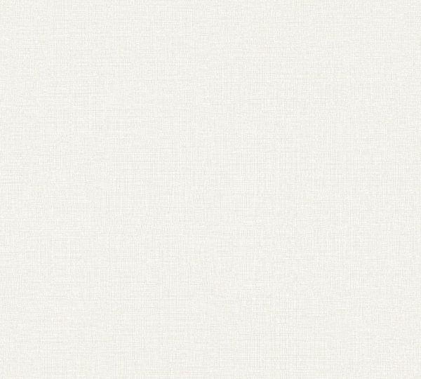 Vliestapete Uni Struktur Textil Leinen Optik creme grau