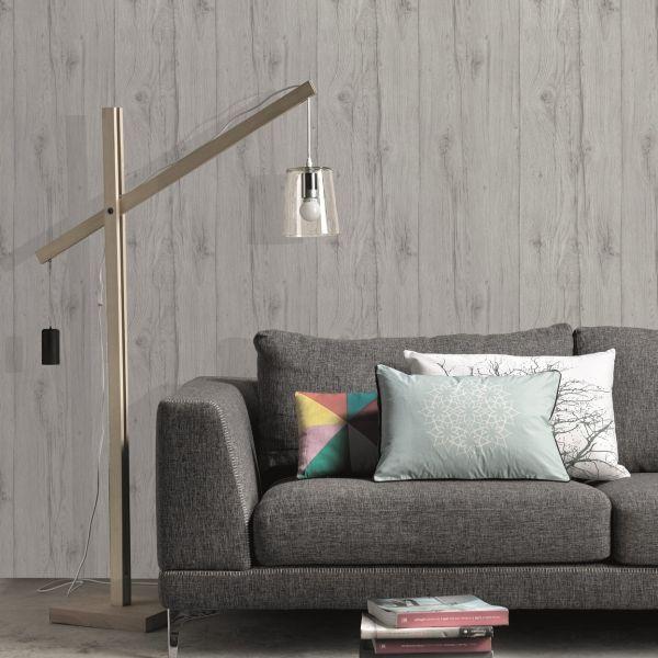 Vliestapete Antik Holz rustikal grau verwittert shabby Landhaus