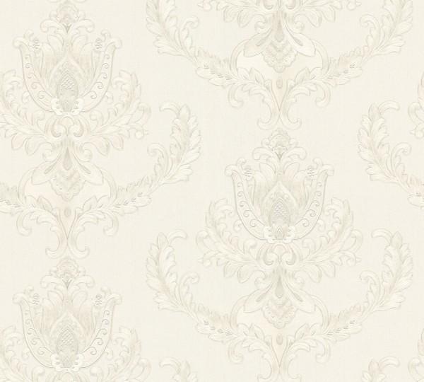 Vliestapete Floral Barock creme silber