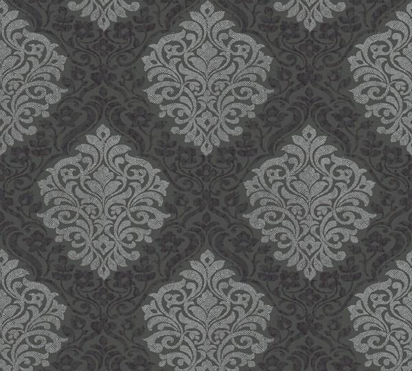Vliestapete Barock schwarz grau glanz Alpha