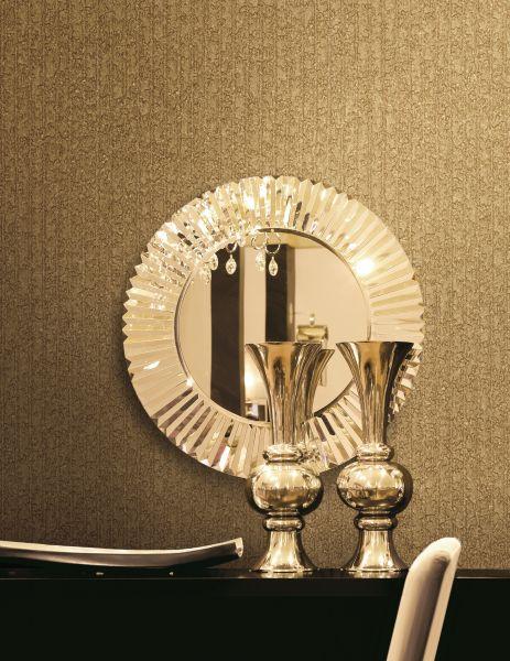 Vliestapete gold uni Struktur metallic design