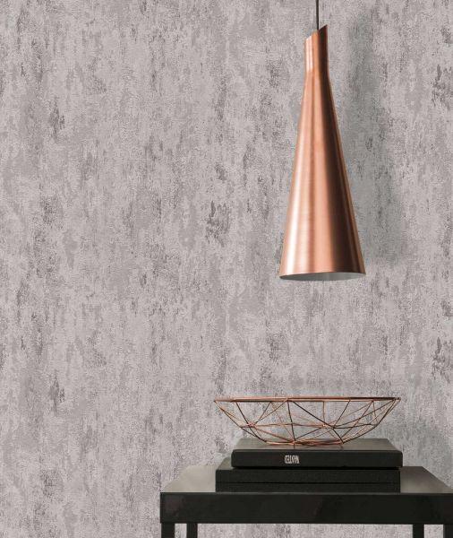 Vliestapete Stein Patina Struktur silber grau metallic
