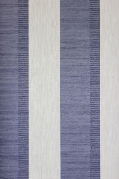 Vliestapete Streifen violettblau creme