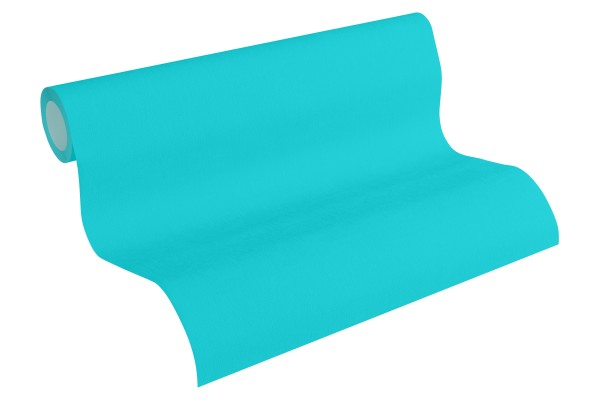 Vliestapete Uni Struktur blau türkis