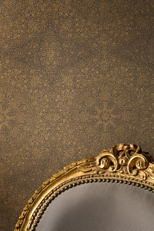 Hochwertige tapete im orientalischen stil online bestellen for Tapete braun gold