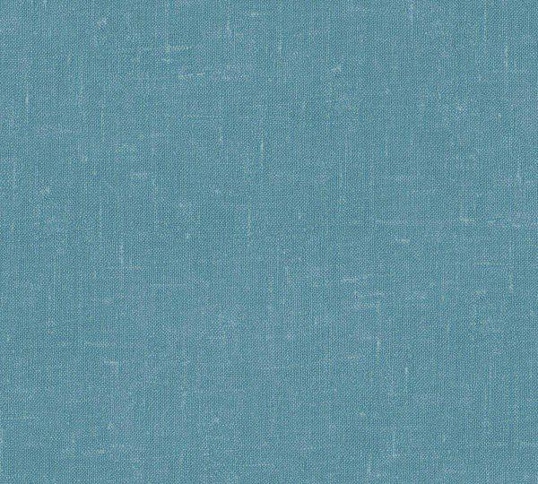 Vliestapete Uni Struktur Textil Optik petrol blau