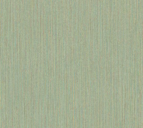 Vliestapete Uni dezente Streifen grün